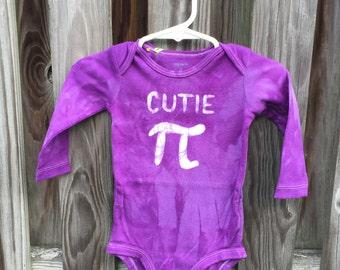 Cutie Pi Baby Bodysuit, Purple Pi Day Baby Shirt, Boy Pi Day, Girl Pi Day, Math Baby Gift, Nerdy Baby Gift, Baby Shower Gift (9 months)