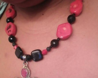 Deep Red Coral 925 Cross Pendant Custom Necklace Yoyos Creative Jewelry Designs