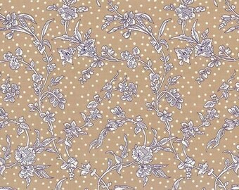 Liberty Tana Lawn Fabric, Liberty of London, Liberty Japan, Maroly Beige, Cotton Floral Print Scrap, Patchwork Quilt Fabric, kt1108x