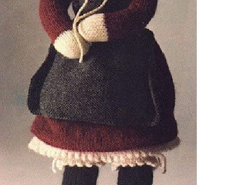 Vintage knitting pattern - Grandmother Doll 18 ins tall - CHRISTMAS TOY Download PDF