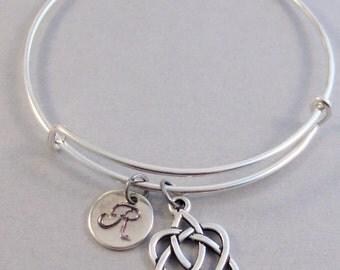 Irish,Bracelet,Bangle,Celtic Bangle,Celti Bracelet,Irish Bracelet.Silver Bracelet,Irish bangle, bracelet,Personalize valleygirldesigs