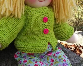 "SALE on all Waldorf Dolls -  Handmade Waldorf Doll, Girl Cloth Doll, Rag Doll, 16"" Doll, Cotton and Wool Doll, Doll for Boys and Girls"