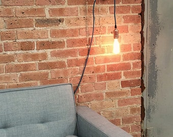 Plug In Pendant Light 15ft - 5 Color choices Includes Edison Bulb Modern Hanging Light- Industrial Light plugin Lighting Antique Lights