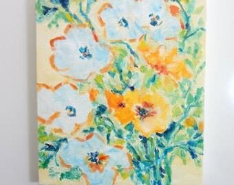 SALE!! Morning Jardin#1, Oil Painting, Floral Painting, Flowers In Oil, 8x10, Small Oil Painting
