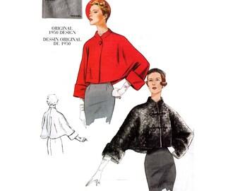 1950s Reissued Vintage Vogue 2934 Bolero Jacket Swing Coat Pattern Sizes 8 - 22 Out Of Print UNCUT Factory Folded