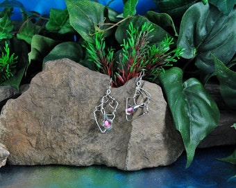 Calla Lily Earrings // Sterling Wire Wrap ~ Pink Freshwater Pearls ~ Artisan One of a Kind // Vintage ~ Handmade by Alice Landis