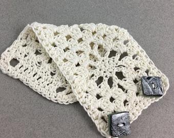 Unique Boho Crochet Cuff Bracelet