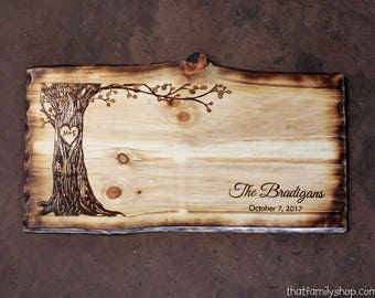 Rustic Guestbook Sign Alternative Custom Names Date Initials Personalize Wedding Memories Keepsake