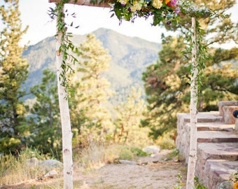 Birch Wedding Arch Arbor With Support Boxes