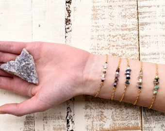 Hematite Bracelet, Hematite Jewelry, Gemstone Bracelets, Moonstone Bracelet, Lapis Bracelet, Rose Quartz Bracelet, Rose Quartz Necklace
