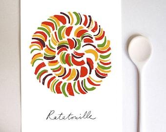 Ratatouille 2 French Cuisine Art Print / high quality fine art print