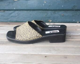90s Leopard Sandal Slides 9