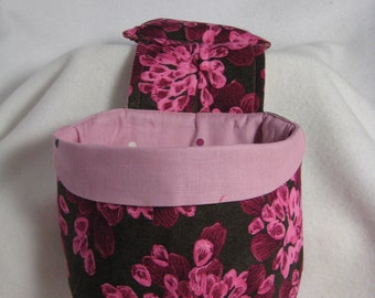 Stay Put Pouch Rose Floral Car Trash bag