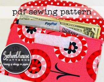 Easy wallet - 3 sizes - earbud, iPhone iPod 4 5, cash, iphone 6 plus pouch case sewing pattern - great for beginners - PDF INSTANT DOWNLOAD