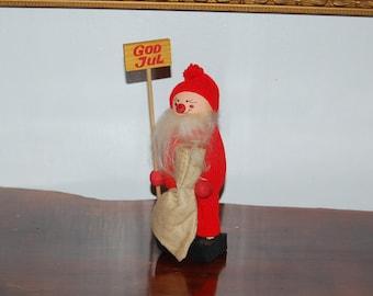 "Vintage 13"" Traditional Jultomten Scandinavia (Swedish) Father Christmas ~ Wooden Santa ~ Tomte ~ Nisse ~ Tomtenisse ~ Christmas Elf ~ Gnome"