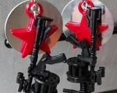 Winter Soldier inspired earrings