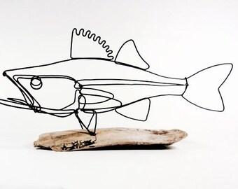 Walleye Fish Wire Sculpture. Fish Wire Art, Minimal Sculpture, 479531194