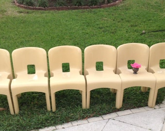 KARTELL UNIVERSALE CHAIRS / One pair of Kartell Chairs by Joe Colombo Modernist Chairs/ 3 pairs avail / Stackable Chairs Retro Daisy Girl