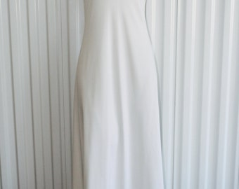 70s White Formal Evening Gown/Wedding/Prom