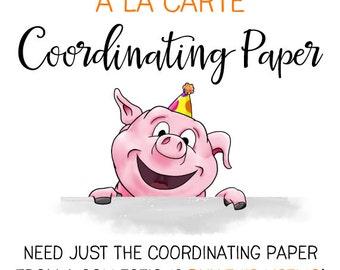 à la Carte Coordinating Paper : Print at Home Digital Scrapbook Paper | DIY Printable | DIY Party Decoration | Digital File