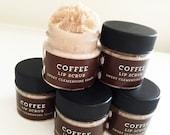 Coffee Lip Scrub, Argan Butter Sugar Lip Scrub, Lip Balm, Lip Polish