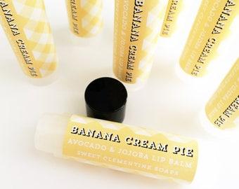 Lip Balm Banana Cream Pie - Moisturizing Avocado and Jojoba Oil Lip Balm