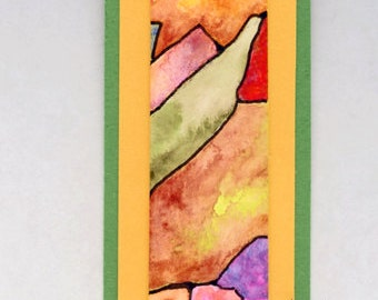 Hand painted bookmark with beaded tassel for book lovers OOAK bibliophile gift stocking stuffer
