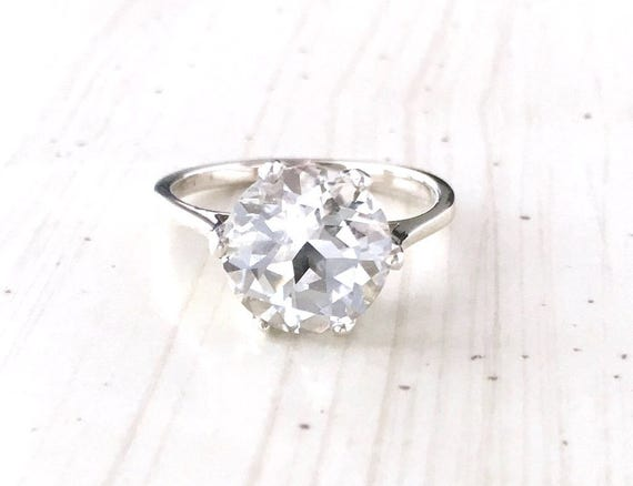 White Topaz Crown Style Ring Sterling Silver