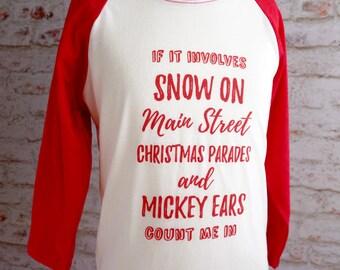 Disney Christmas shirt, mickey ears, main street USA, christmas shirt, disney shirt, disney parade, mickey and minnie shirt