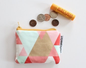 coin pouch -- geo coral