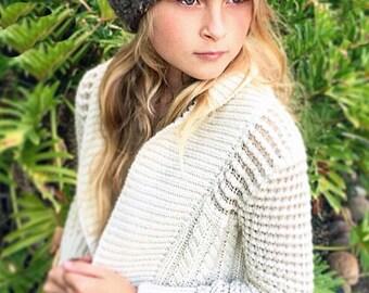 Chunky Beanie Hat Crochet Pattern - Crochet Pattern - Hat Crochet Pattern - Girl's Hat Pattern - Women's Hat Pattern - The Elsa Hat - Winter