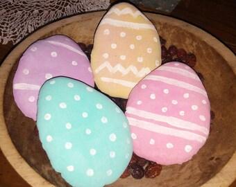 Primitive Spring Time Easter Egg Ornies-Set Of 4