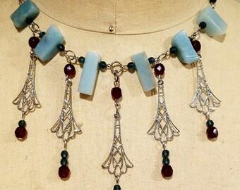 Gemstone Filigree Necklace
