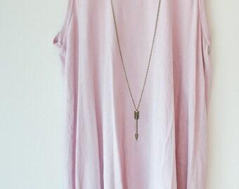 Long arrow necklace // arrow necklace // arrow charm // long necklace //long gold necklace // archery necklace // bronze jewelry // arrow