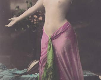 Nina Barkis, Nude, Performing as Salomé, circa 1906, by Georg Gerlach.