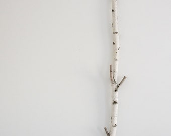 white birch tree growth ruler/ coat rack - wooden growth chart, kids growth ruler, kids measuring stick