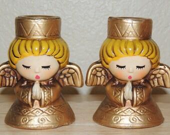 Vintage ANGEL Candle Holders