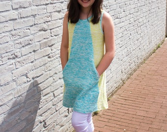 Mandrake Dress PDF pattern 6-16 girls knit dress pattern