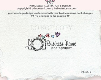 1456-2 Photography logo, photography logo, photographer logo, business logo camera design, watermark design, camera logo, whimsical camera