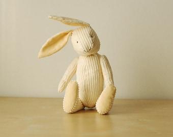 Yellow Eco Friendly Baby Bunny Toy Plush