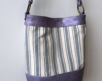 Ready to ship purple woven tote- purple leather handwoven tote- leather totebag- handwoven totebag- leather tote- ooak