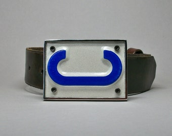 Belt Buckle License Plate Letter C Recycled Upcycled Gift for Men or Women