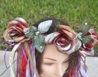 Fairy Spring Summer Flower Crown Adult Floral