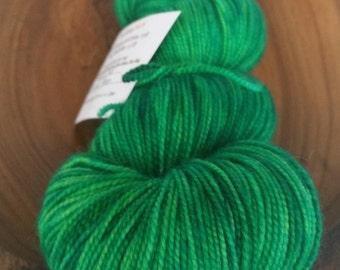 Fingering, Electric Green - 80/20 First-String PLUS SW Merino Yarn