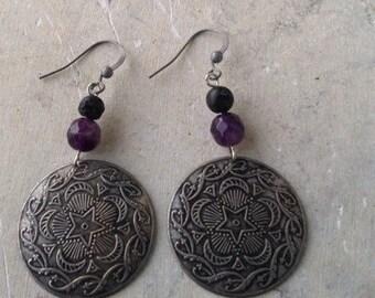 Occult Amethyst & Star Earrings