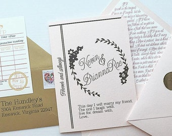 Library Wedding Invitation - SAMPLE