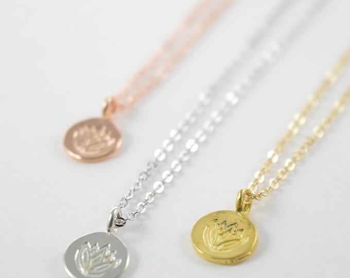 Vermeil Lotus Necklace