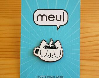 "Meu Coffee Cat ""Espresso Self"" Enamel Pin"