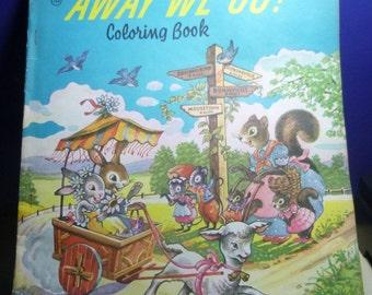 Away We Go! Vintage Coloring Book, 1940-50s