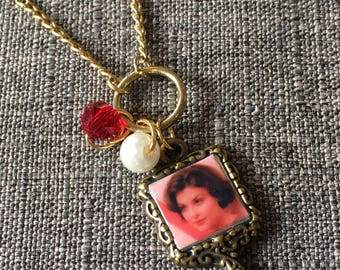 Audrey Horne inspired Mirror Pendant Necklace.